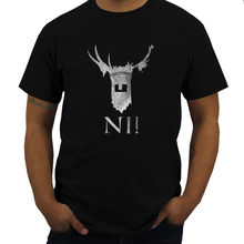 Bawełniana koszulka męska Tshirt rycerze Ni koszulka Ritter Der Monty zabawa Kokosnuss Vom Die Ni Sagen Nie Python strój Teeshirt