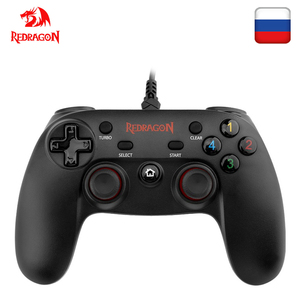 Image 1 - Redragon G807 12 button Wired Gamepad For Nintendo Switch Playstation PC PS2 PS3 Controller Joystick Android with Triggers