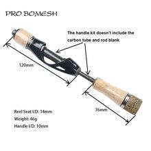 Pro Bomesh 1 Set Kurk Handvat Spinning Reel Seat Forel Hengel Ijs Hengel Accessoire DIY Component Reparatie Kit cane