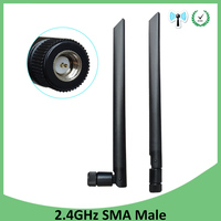 booster antenne 2pcs 2.4 GHz WiFi אנטנה 5dBi אוויר SMA זכר מחבר 2.4GHz Antena wi fi Antenne 2.4G לקבלת אלחוטי נתב Wifi Booster (1)