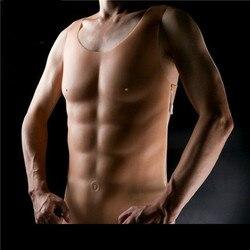Nuevo 1750g pecho musculoso hombre silicona falso pecho músculo encantador Pectoralis travestido Artificial Cosplay látex Shapewear