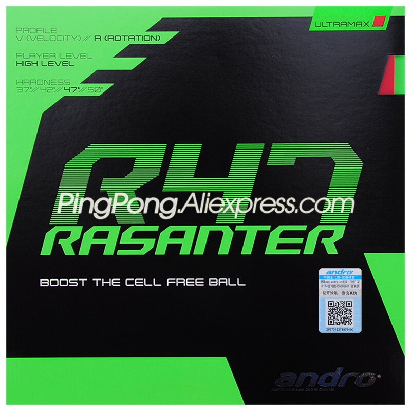 Andro RASANTER R47 Table Tennis Rubber Pips-In Original R47 Ping Pong Sponge