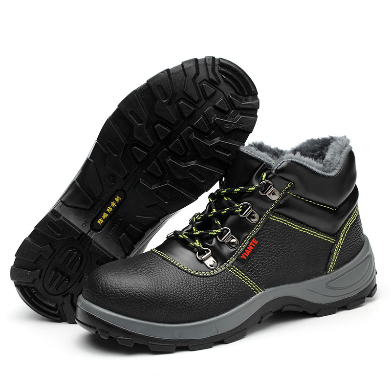 Winter Labor Safety Cotton-padded Shoes Smashing Anti Puncture Steel Head Safety Shoes Work Shoes Warm
