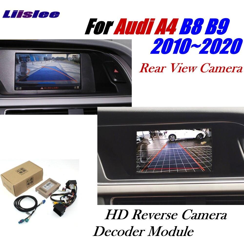 Автомобильная камера заднего вида для Audi A4 B8 B9 MMI 2011 ~ 2020 адаптер интерфейса для парковочной резервной камеры подключение оригинального деко...