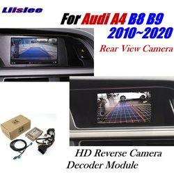 Kamera cofania dla Audi A4 B8 B9 2011 ~ 2020 adapter interfejsu Parking tylna kamera cofania podłącz oryginalny ekran dekoder MMI w Kamery pojazdowe od Samochody i motocykle na