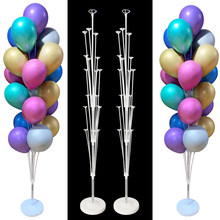 7/13/19 Tubes Balloon Column Stand Birthday Balloon Home Decor Birthday Party Decoration Kids Adult Wedding Event Party Balloon