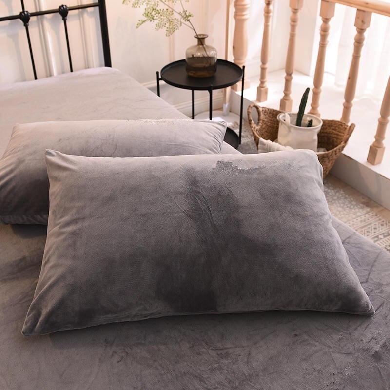 Solid Color Fluff  Pillowcase 40*60cm 50*70cm 50*75cm 50*90cm Size Pillow Case Rectangle Soft Decorative Winter Pillow Covers