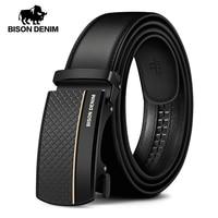 BISON DENIM Genuine Leather Automatic Men Belt Luxury Strap Belt for Men Designer Belts Men High Quality Fashion Belt N71416 1