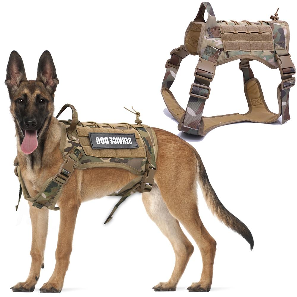 Imbracatura per cani tattica Training Molle System Vest Set di imbracature e guinzagli per cani da compagnia per cani di taglia medio-piccola 1
