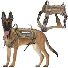 Harness Vest Dog-Leash Nylon-Bungee German-Shepherd Dogs Small Tactical Large Pet-Dog