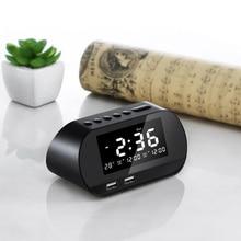Modern LED Alarm Clock Digital Snooze Table  Electronic Temperature & Calendar Display Home Decoration