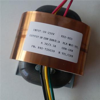 0-230V-250V 0 1A 6 3V 3 3A R transformator rdzeniowy 45VA R40 niestandardowy transformator 2*115V 230V wejście z miedzi tarcza wzmacniacz mocy tanie i dobre opinie CN (pochodzenie) Autotransformator JEDNA Other AUDIO