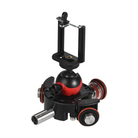 Dolly For Camera With Base Electric Rail Track Slider Motorized Video Ball Head Remote Control Rotary Photograph Phone Clip Mini
