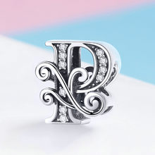 CodeMonkey 100% 925 Sterling Silver Letter Alphabet P Charm Bead Fit Original Pandora Bracelets Pendant Jewelry Making C030-P(China)