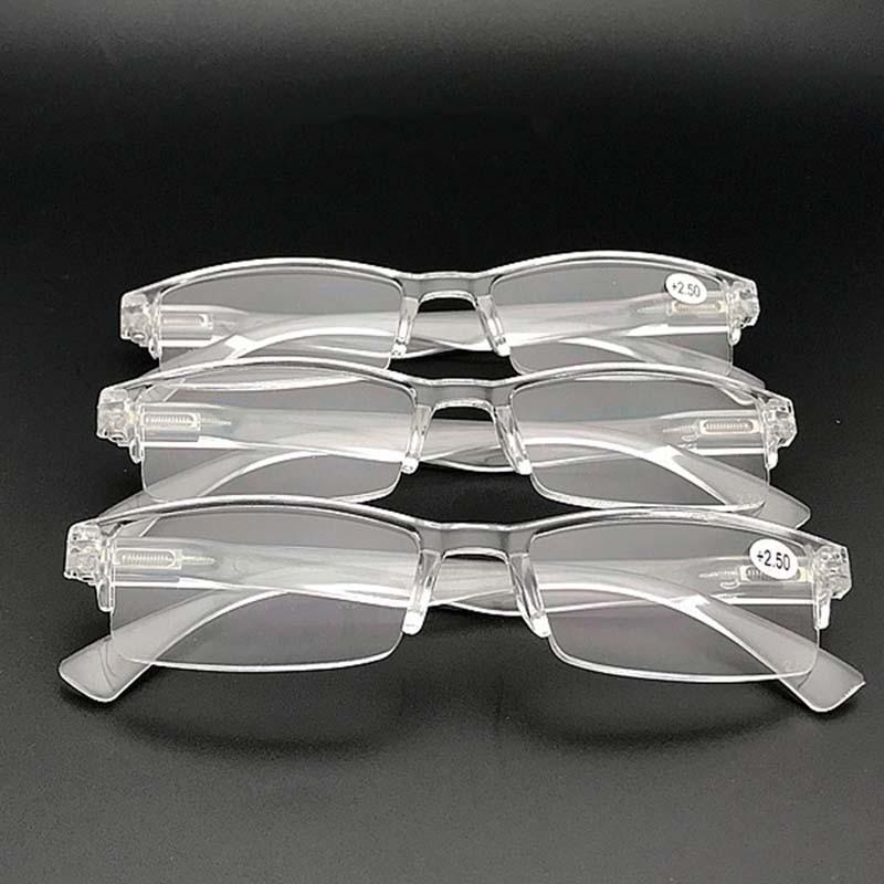 HERVI Ultra Light Frameless Clear Reading Glasses Women Men Presbyopic Eyeglasses Parents Gifts +1.0+1.5+2.0+2.5+3.0+3.5+4.0