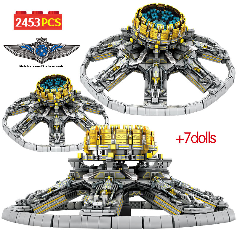 2453Pcs City Technic Assembly Building Blocks Legoinglys Military Wandering Earth Universe Planetary Engine Bricks Toys For Boys