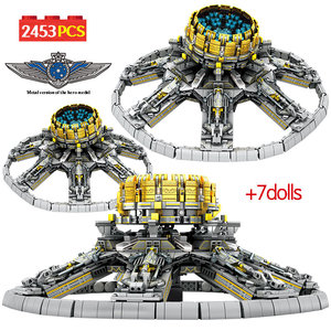 Image 1 - SEMBO 2453Pcs City Technic Assembly Building Blocks Military Wandering Earth Universe Planetary Engine Bricks Toys for Boys
