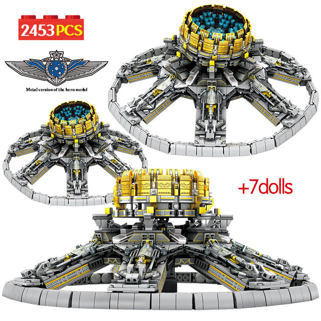 SEMBO 2453Pcs City Technic Assembly Building Blocks Military Wandering Earth Universe Planetary Engine Bricks Toys for Boys