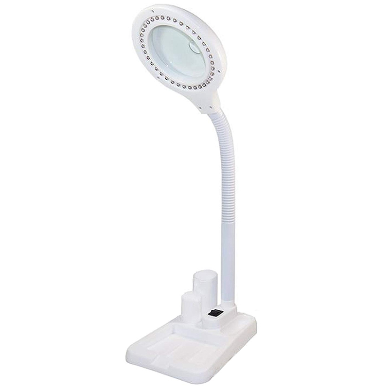 Led Magnifying Lamp, 5 X 10X Magnifier And Table & Desk Lamp, Portable Adjustable Magnifying Glass With Light For Seniors Readin