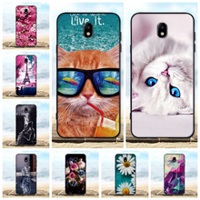 FOR Case Samsung Galaxy J7 2017 Cover Soft Silicone TPU Black Shell 3D Cat For Coque Pro J730F EU Phone Cases