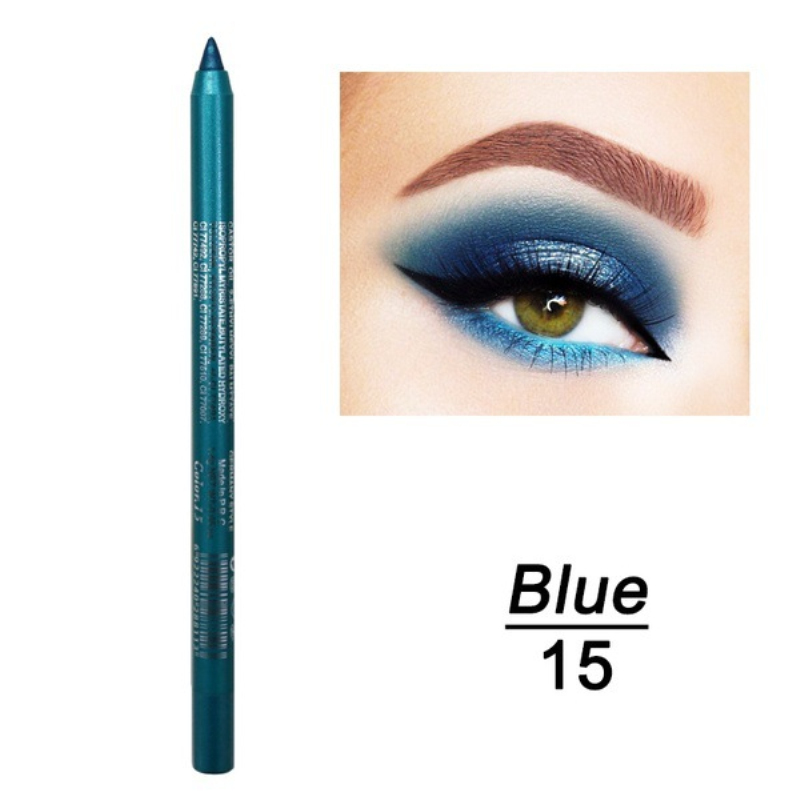Color Eye Liner Pencil Long-lasting Waterproof Sweat Pigment Not Blooming Eyeiner Pen Women Fashion Eye Makeup Cosmetic TSLM2