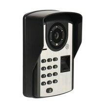 Fingerprint Password Remote Control Video Door Phone Doorbell Intercom Remote Control Unlock Video Intercom Rainproof Night Visi good quality wall mounted wireless door control remote take video