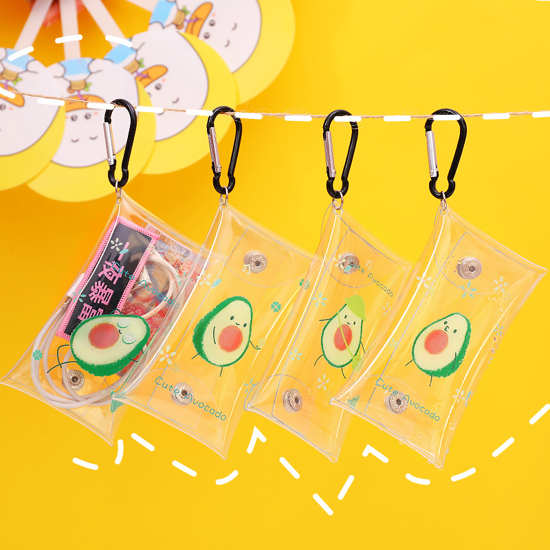 L0040 Cartoon Creative Transparent Purse Waterproof Cool Key Mini Coins Earphones Storage Purse
