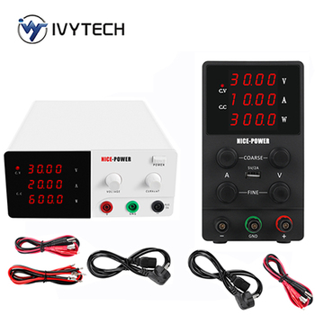 60V 10A DC Power Supply Adjustable Laboratory Power Source Digital 30V 10A 20A For Phone Repair Regulated Power Supply 30V 10A image