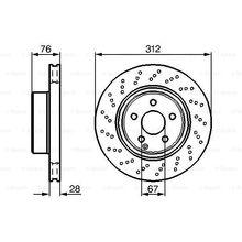 Диск тормозной MERCEDES W220 280-350/C215 500 передний D=312мм