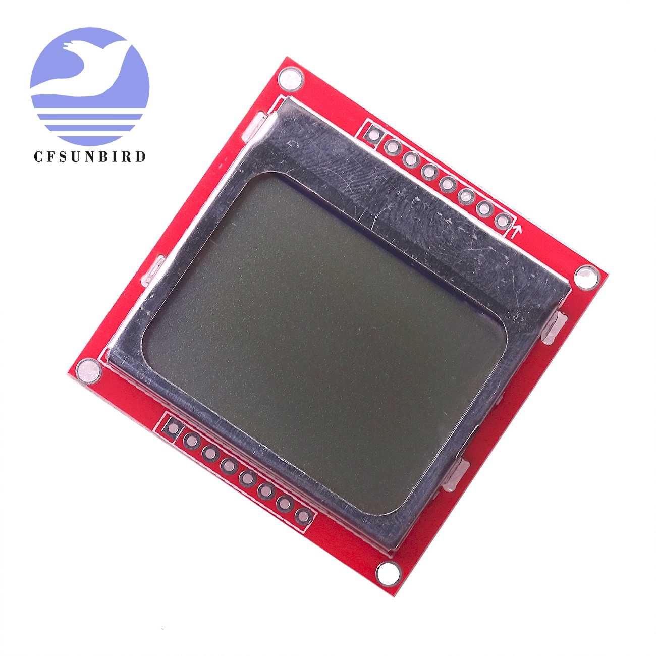 Smart Electronics módulo LCD Monitor de pantalla de fondo blanco adaptador PCB 84*48 84x84 x protectores de pantalla Nokia 5110 para arduino