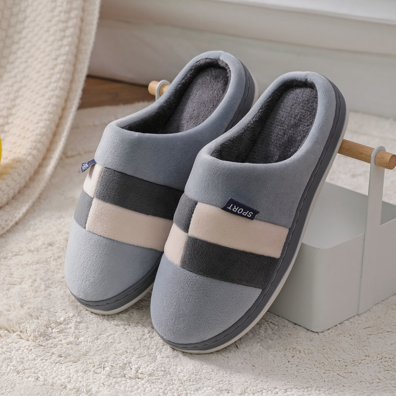 2020 New arrival couple winter house slippers for women fur slides short plush shoes female footwear