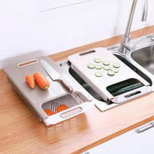 Multifunction Draining Chopping Board Non-Slip Cutting Mildew Proof Blocks Drain Basket Kitchen Accessories Tools
