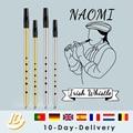 Латунный ирландский свисток NAOMI, флейта с ключом C/D, Ирландская флейта, жестяной Пенни, свисток, музыкальный инструмент с 6 отверстиями