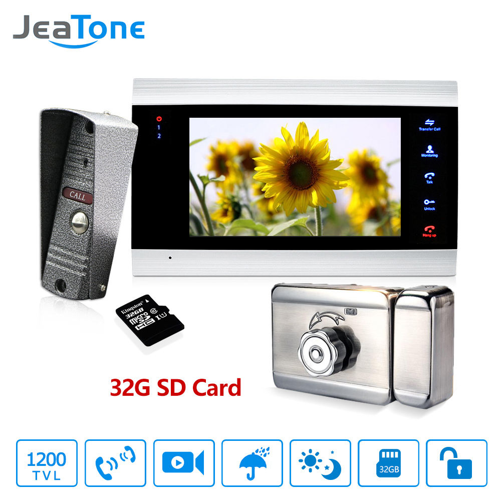 7 Inch Color LCD Video Door Phone Intercom System Motion Detection Video Door Entry Panel Intercoms For Private Home Call Panel