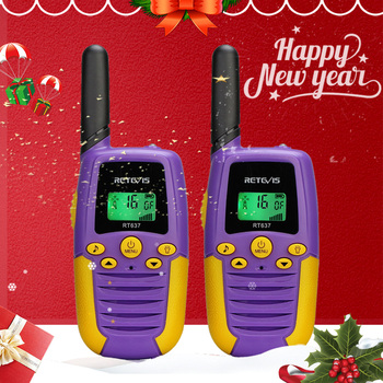 Retevis RT637 RT37 Walkie Talkie Kids 2pcs Six Colors 100-800M Flashlight Children's radio Birthday Christmas Gift Woki Toki - discount item  50% OFF Walkie Talkie