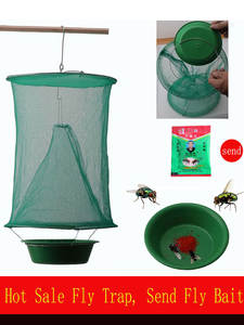 OGFFHH Trap Cage-Net Zapper Fly-Catcher Pest-Control Killer Flies Garden Health Reusable
