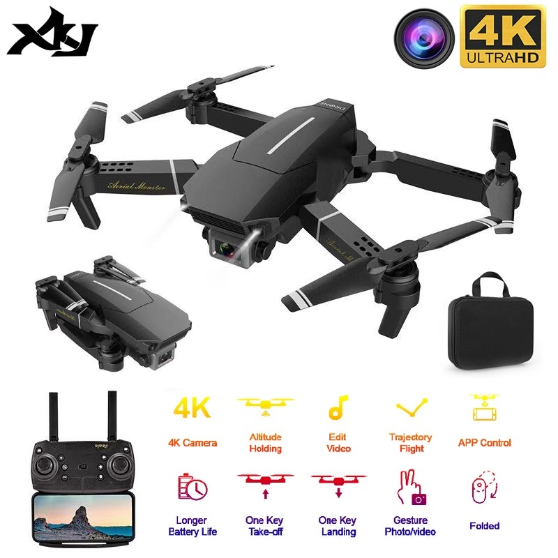 2020 New Drone E98 WIFI FPV Drone With Wide Angle HD 4K 1080P Camera Height Hold Mode RC Foldable Quadcopter Gift For Kids