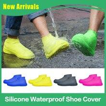 Silicone Waterproof Shoe Cover Rainy Day Non-slip Wear-Resistant Men/Children Outdoor Rain Portable Rainproof Shoe Cover