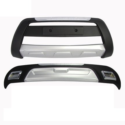 High quality ABS chrome Front + rear bumper protection plate guard  for 2013 2014 Hyundai Tucson Car styling|hyundai front bumper guard|hyundai tucson bumper guard|front bumper guard - title=