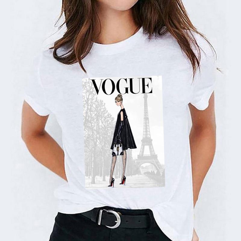 Купить harajuku футболка футболки женские элегантные журнал с рисунками