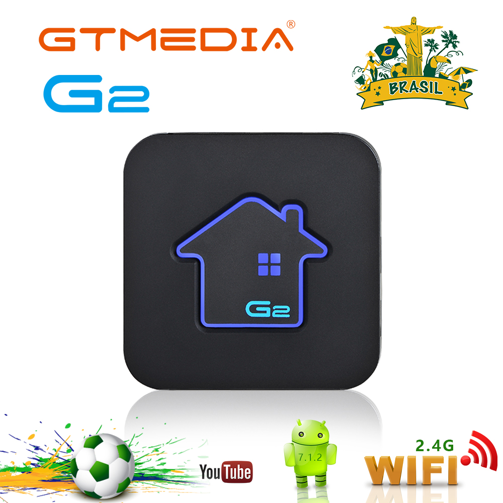 GTMEDIA G2 Android Box 4K H.265 WIFI Netflix Brazilian Portuguese Live Hd Iptv Subscription Smart Tv Box Ship From Brazil Spain