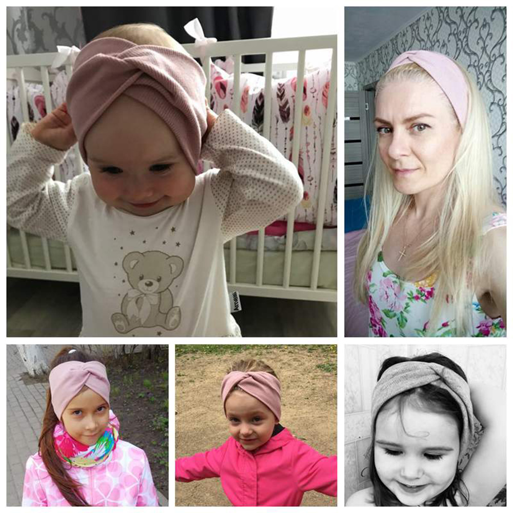 2020 Women Baby Headband Cross Top Knot Elastic Hair Bands Soft Solid Girls Hairband Hair Accessories Twisted Knotted Headwrap