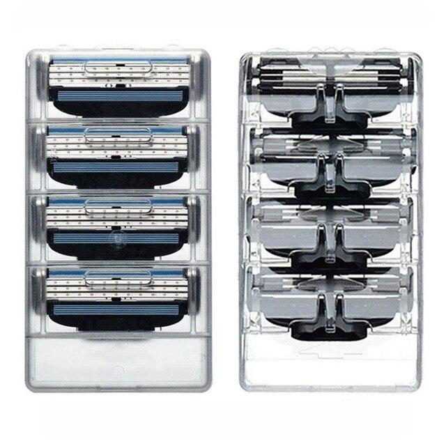 4Pcs/8Pcs Gillettee Men's Safety Razor Blades Face Care Shaving Blades Manual Shaving Cassette For Gillettee Mache 3 1