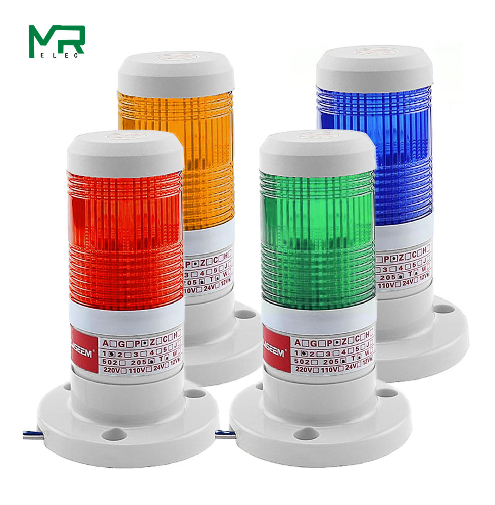 LED  Industrial Red  Yellow  Blue Green Signal Tower Warning Lamp Stack Light Alarm Apparatus 12V 24V 110V 220V