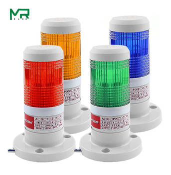 LED  Industrial red  Yellow  blue green Signal Tower Warning Lamp Stack Light Alarm Apparatus 12V 24V 110V 220V 1 pcs now dc 12v buzzer sound red yellow green tower lamp industrial signal warning stack light