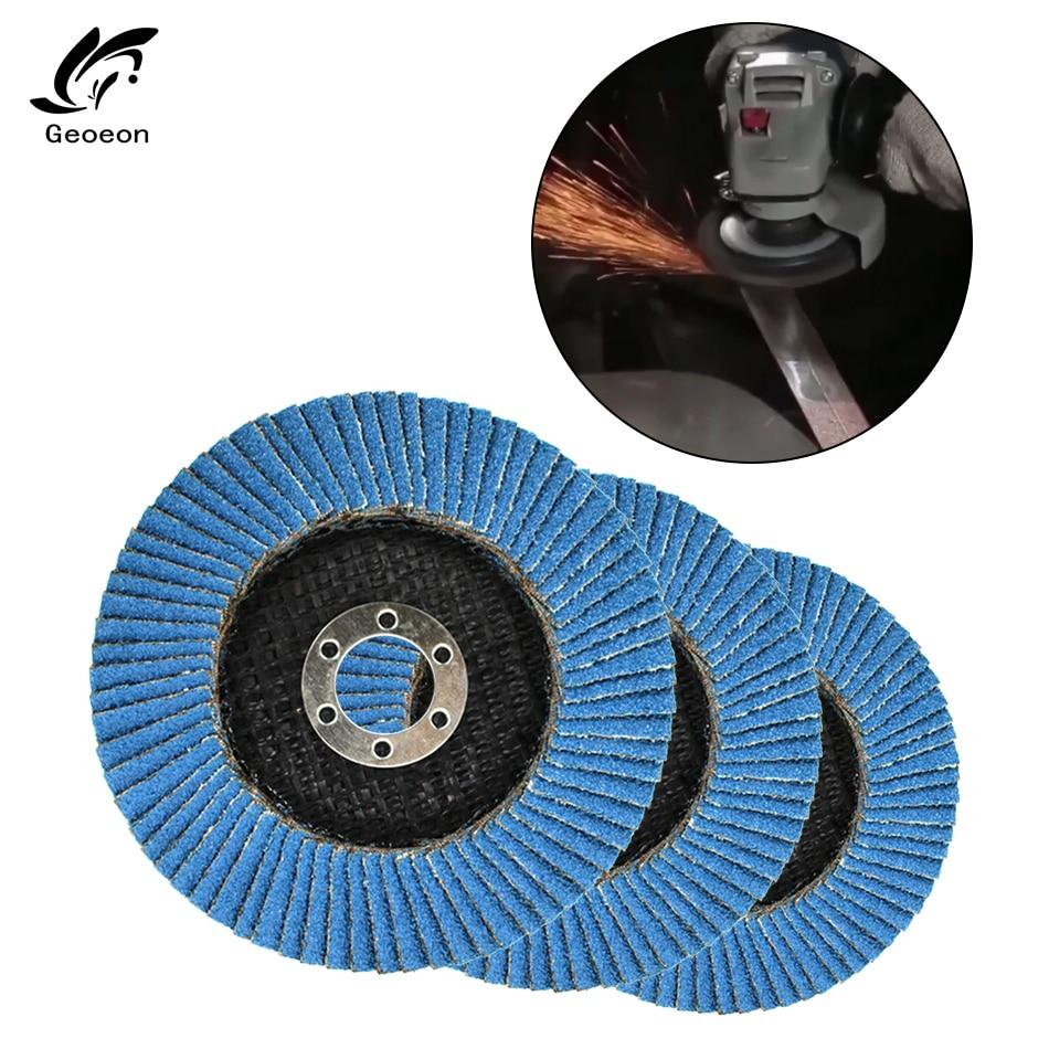 Geoeon 60/80 Grit Grinding Wheels Flap Discs 100mm 12000rpm Angle Grinder Sanding Discs Metal Plastic Wood Abrasive Tool A65