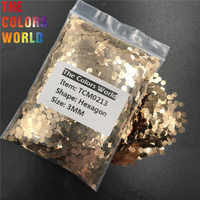 TCM0213 Sand Gold Farbe Metallic Glanz Hexagon Form Nagel Glitter Nail art Dekoration Make-Up Körper Glitter Handarbeit DIY