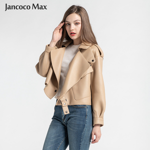 Image 1 - 2019 New Arrival Womens Real Sheepskin Leather Jackets Top Quality 5 Colors Genuine Leather Coat Fashion Jackets Lady S7547