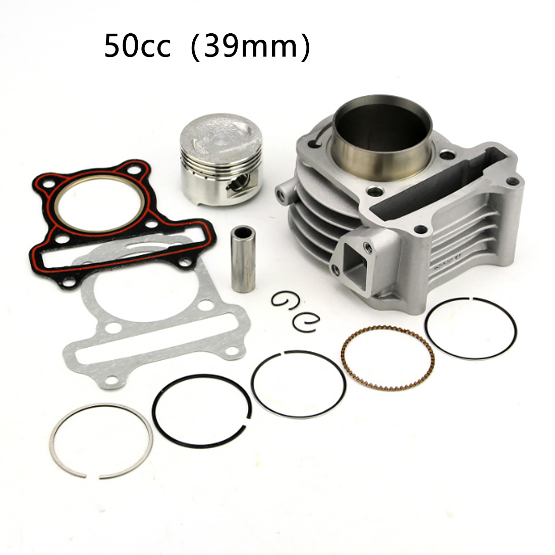 Universal Cylinder Kit Scooter Big Bore Engine Part Professional Practical Aluminum Alloy Durable Crankshaft Piston Ring For GY6