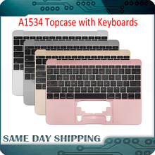 2015 New for Macbook 12'' A1534 UK US English Keyboard French German Spanish with Topcase